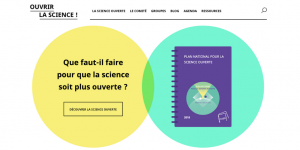 ouvrirlascience.fr - page d'accueil