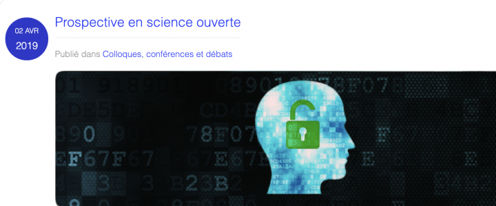 Journée Prospective Science ouverte - Logo