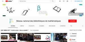 Chaîne Youtube du RNBM - Page d'accueil